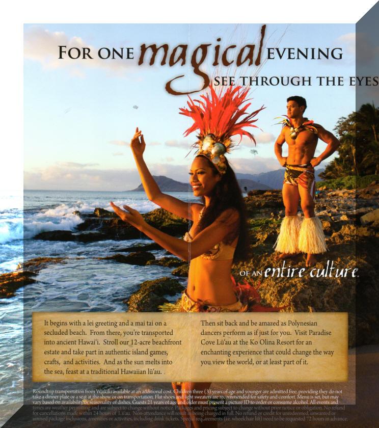 Paradise cove luau brochure page 2 m4hsunfo